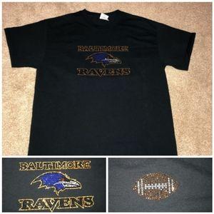 Baltimore Ravens Crystal bling T-shirt!